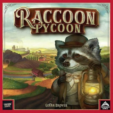 Raccoon tycoon NL speldoos square - Boxingmeeples - boardgameshop
